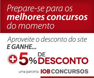 Canal Cursos Online - Prepare-se na IOB Concursos com 5% de Desconto